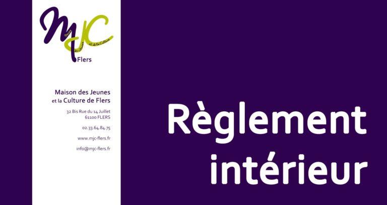 Règlement intérieur de la MJC